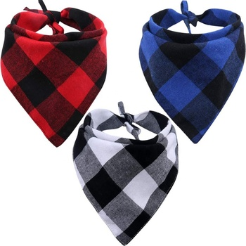 Dog Bandana Pack Plain Triangle Bibs Pet Scarf for Dogs and Cat