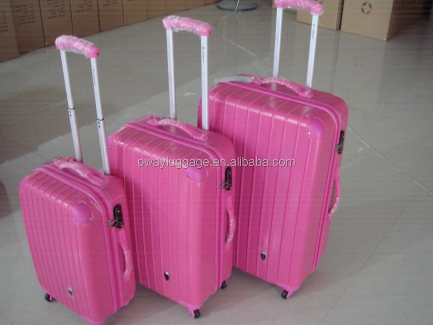 closeout 3pcs ABS trolley bag set with spinner 4 wheels