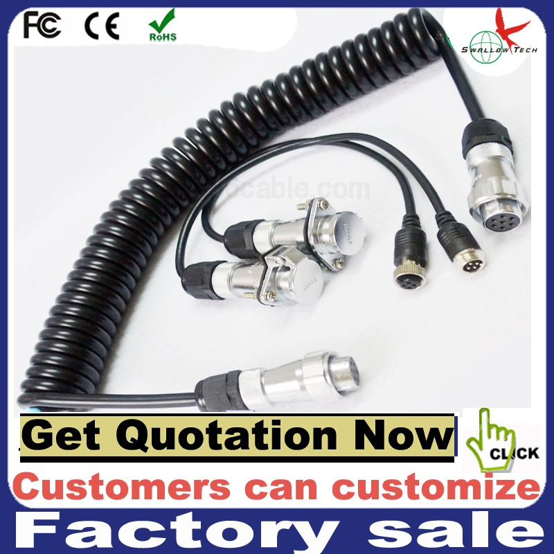 Heavy duty trailer 5pin cable Security camera video and audio power cable