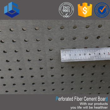 Sound absorbing perforated fiberglass fiber cement board