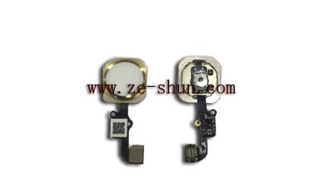 mobile phone flex cable for iPhone 6 home complete Golden