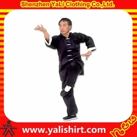 New model custom made professional blank cotton/polyester kung fu uniform for men