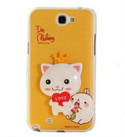 for Samsung Galaxy Note 2 N7100 cute cartoon rabbit case 3D hidden stand lovely girl phone covers