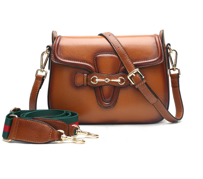 Europe and America Brand Design Vintage Style Messenger Bag Two Style Shoulder Strip Unique Crossbody Genuine Leather Mochila