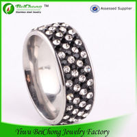 Top sale 2014 cubic zirconia jewelry in china steel rings with catalogs to buy in china