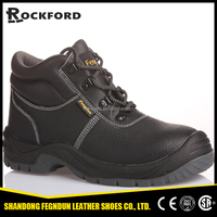 Skid resistant fitness cow tumbled leather safety shoes FD4107