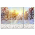 Wall Decor Landscape Wall Art/Winter Forest Canvas Pictures/Living Room Snowing Canvas Artwork