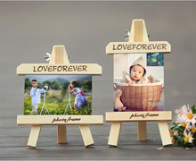 home decor wooden photo frames mini picture shelves for custom