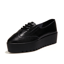 Jamron Women Anti-Skid Rubber Sole Creepers Soft Leather Flats