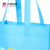 Durable printed tote blue promotional non woven fabric bag with logo