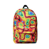 2014 latest leisure school backpack, canvas kids cheap school bag, 2014 new design school backpack with high quality 3D printing