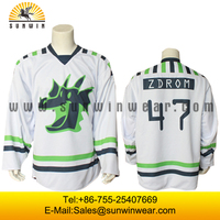 Dyed sublimation hockey jerseys printing for men