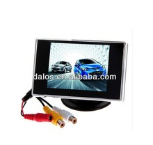 3.5 inch car LCD monitor with 2.4G built-in wireless camera on dash board mounting