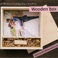 Wooden Box Includes Usb Flash Drive