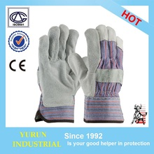 Split Cowhide EN420 EN388 Driver Wedding Welding Gardening Safety Leather Working Gloves
