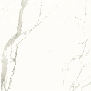 Italy statuario marble look glazed porcelain floor tiles 24x24 32x32