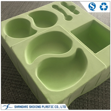 Green Disposable Cosmetic Inner Tray Velvet Flocked Tray