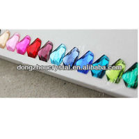 rainbow color crystal rhinestones beads for prom dress