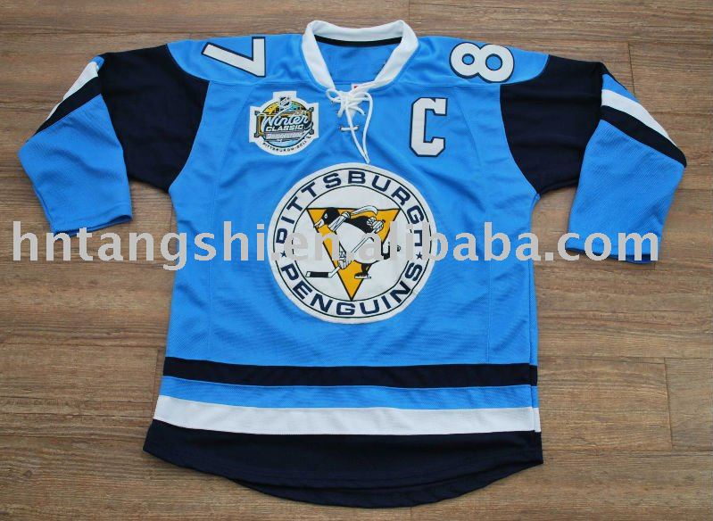 #87 Crosby Penguins 2011 Winter Classic Hockey Jersey