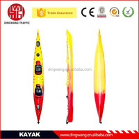 2015 Popular New Multicolour Double Plastic Sea Kayak with paddles