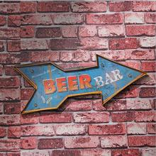 factory direct wholesale The American and European styles creative arrow tin sign with the led lights