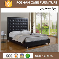 Furniture Bedroom Double Deck Bed Leather Upholstered Bed