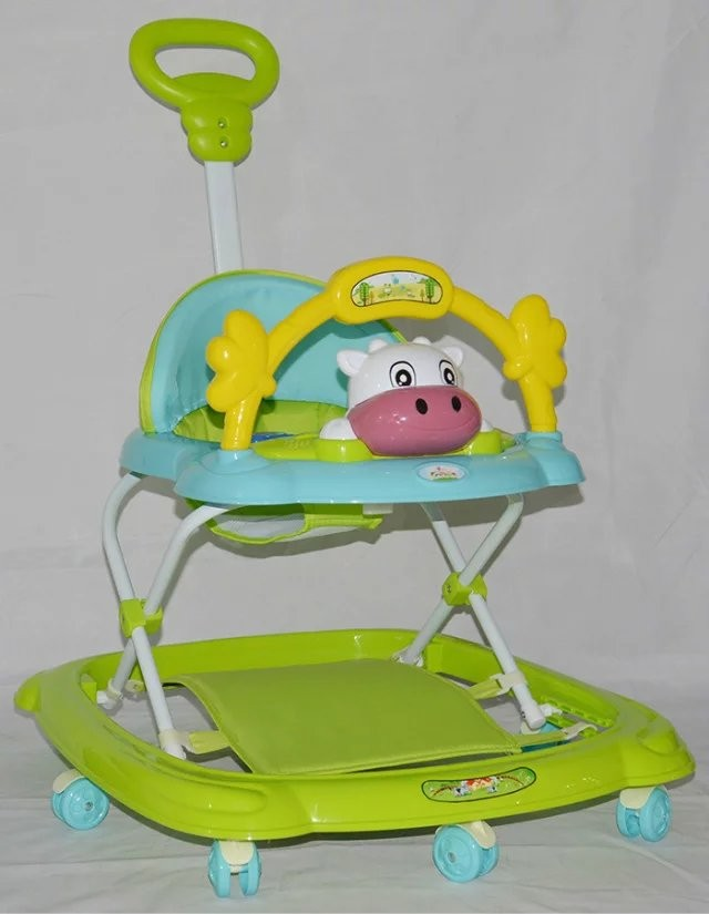 baolimei 349B cheap baby walker from China manufacture/push walker with foot rest for baby