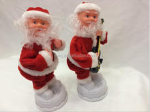 12inches playing saxophone santa claus