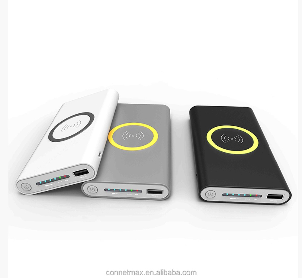 New Hot sale Qi Wireless 10000mAh Power Bank charger for Samsung for iPhone 8 X S6 S7