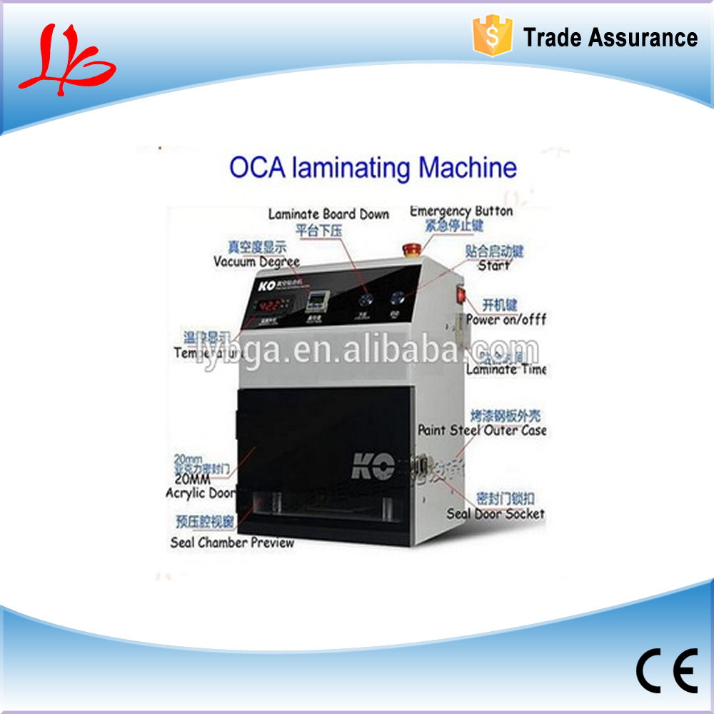 Factory price! Free ship! Desktop High Precision automatic Non-Bubble OCA Laminating Machine (No Need Remove Bubble )