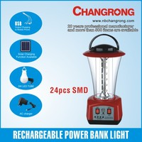 12V battery portable charger power bank with led bulb lights USB solar panel
