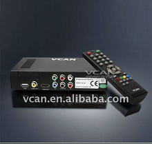Car DVB-T MPEG4 Digital TV Receiver with MPEG4 H.264 HE-AAC player
