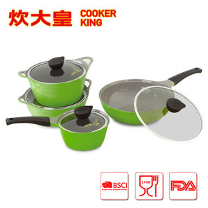 8pcs aluminium Die casting ceramic cookware sets