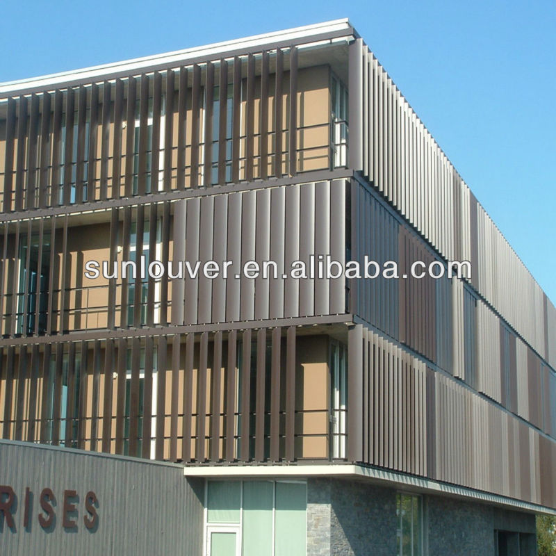 Aluminum outdoor louver window shutters as building