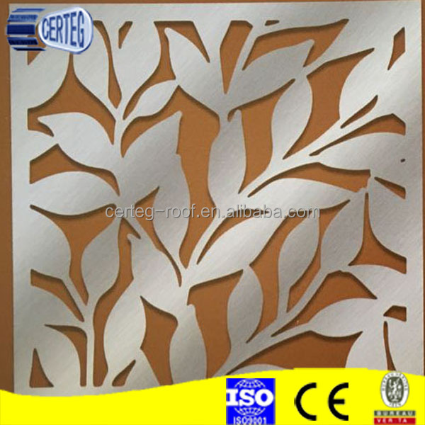 laser cut privacy screens aluminium carved decorative panels