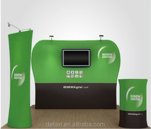 Trade show Pop up Stretch Tension Fabric Backdrop Display