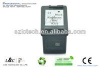 Printer Cartridge C9351AN/ #21 Empty Ink Refillable Cartridges for HPDJ3910/3915/3930/3940/4310/5605/5610/1401/1402/1410/1417