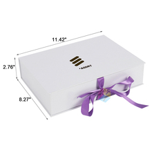 Packaging with ribbon custom hair extension boxes