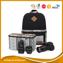 Wholesale customized fashion printed camera backpack bag