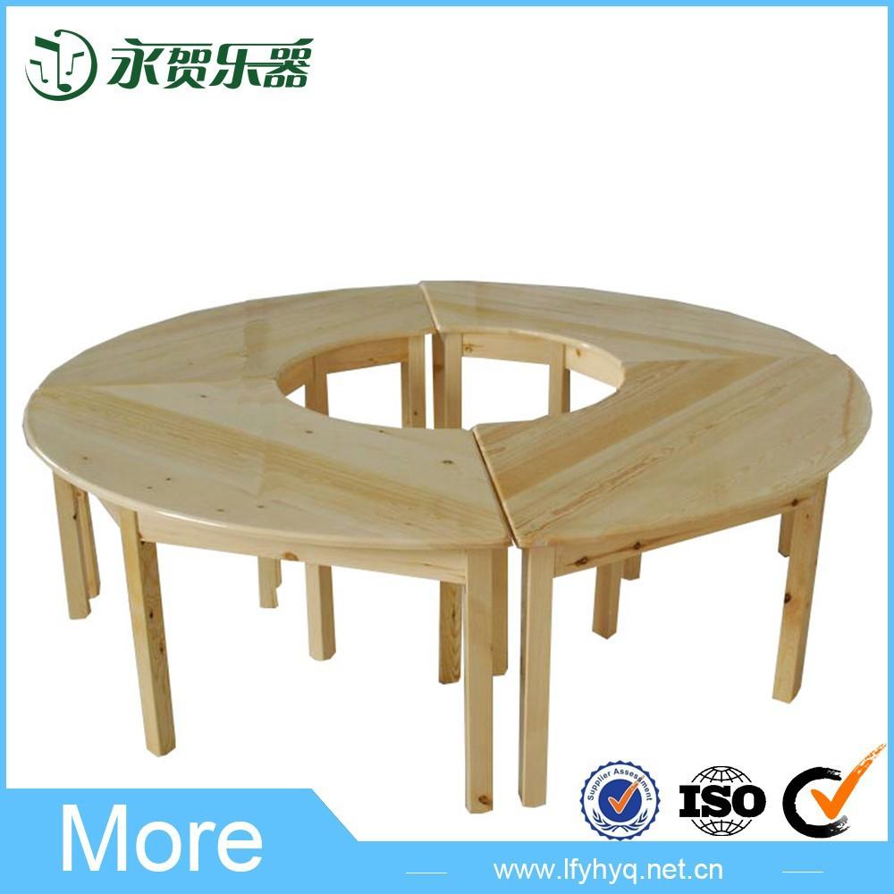 kinder holz runden tisch, holz spieltisch, massivholz esstisch