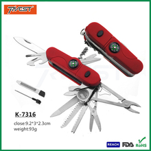 Outdoor Camping 18 In 1 Multi Tool Swiss Knife Set with Compass