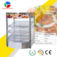 pizza warmer display/food warmer showcae/glass food display for sale