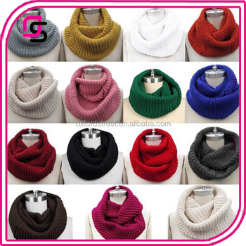 winter warm infinity scarf, long plain color loop scarf,lady fashion knitted scarf