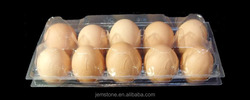 Highly transparent disposable plasitc egg packaging box