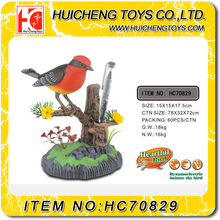 Lovely Eco-friendly plastic battery operated singing bird toy decoration toys best gift EN71,ASTM,HR4040