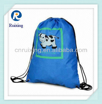 Polyester cute drawstring backpack