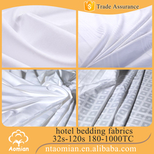 100% cotton plain percale sateen stripe hotel king bed fabric