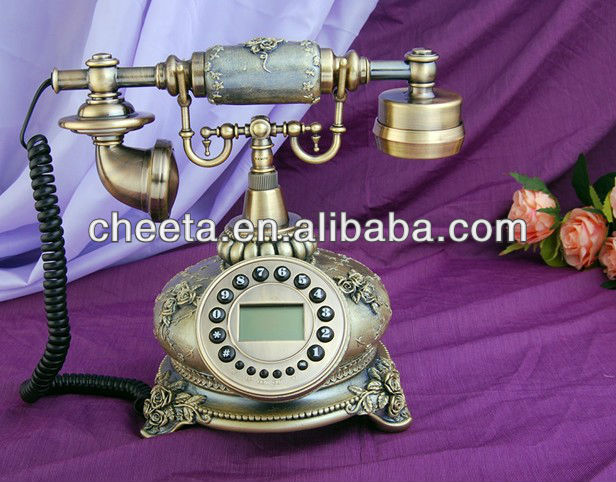 retro telephone antique design handle receiver