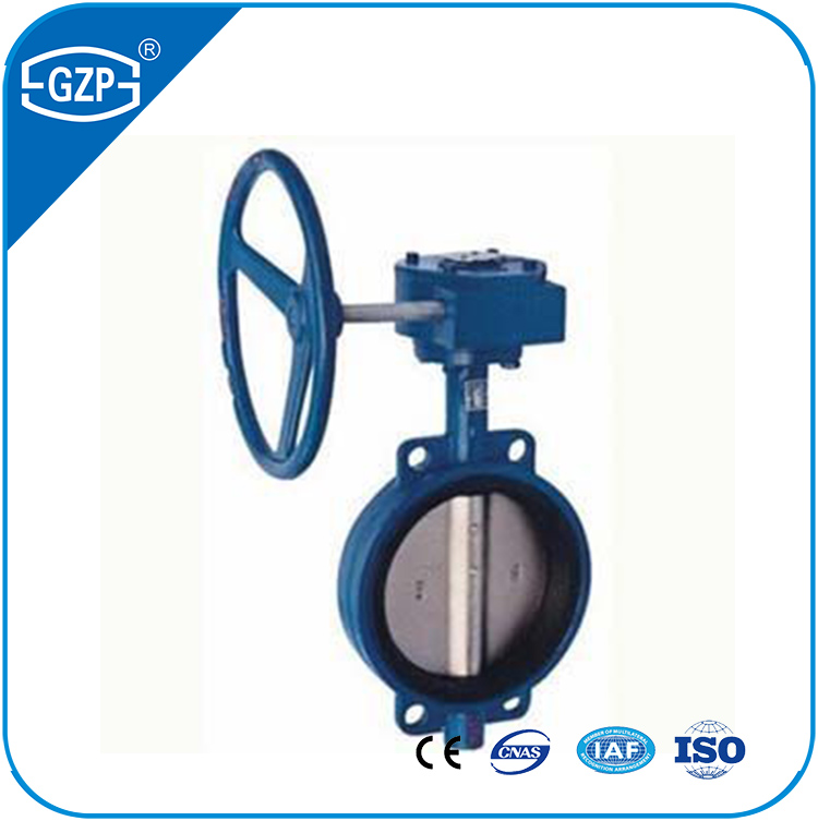 ASTM ductile iron body PTFE seat DN600 wafer type butterfly valve for gas oil water and steam