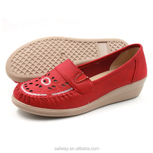 comfort and flex Woman pu leather flat shoes